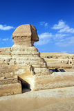 Sphinx. And pyramids - tombs of the pharaohs in Giza, Egypt Stock Image
