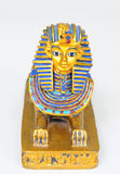 The Sphinx. A detailed replica of the Sphinx painted in the original colors royalty free stock photo