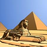 sphinx Vektor Illustrationer