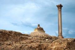 Sphinx antico sulla collina, Fotografie Stock