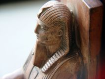 Sphinx-Bücherstütze Stockfotografie