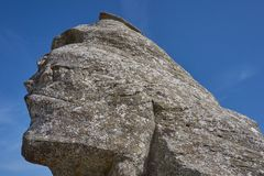 The Sphinx from Babele in Bucegi mountains Romania royalty free stock photo