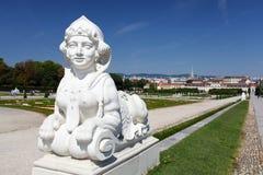 Sphinx in Belvedere Garden in Vienna Stock Images