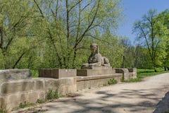 Sphinx-Brücke in Tschechischer Republik Vsestudy lizenzfreies stockfoto