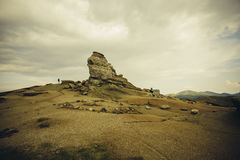 The Sphinx - Bucegi Mountains. Located on top of the Bucegi mountains, the famous Sphinx Stock Image