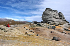 Sphinx of Bucegi Mountains Stock Photography