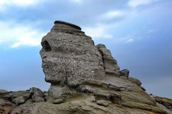 The sphinx from bucegi Stock Photography