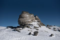 The sphinx from Bucegi Romania stock photography