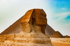 The sphinx in Cairo, Egypt Royalty Free Stock Photo