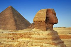 Sphinx in close up Stock Photo