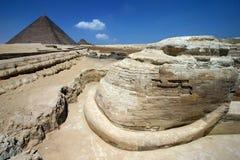 Sphinx con la prospettiva unica fotografia stock libera da diritti
