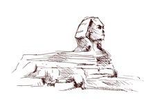 Sphinx de croquis de main Photos libres de droits