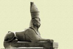 Sphinx del granito a Pietroburgo Immagini Stock Libere da Diritti