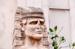 Sphinx des alten Maurerarbeit-Tempels in Teneriffa Stockfotos