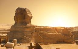 Sphinx in deser Royalty Free Stock Image