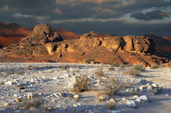 Sphinx in a desert Stock Photo