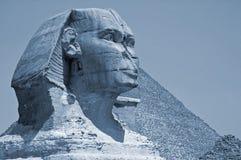 Sphinx di luce della luna. Immagine Stock