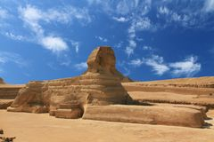 Sphinx Egypt. The great Sphinx in Egypt under a great sky stock image