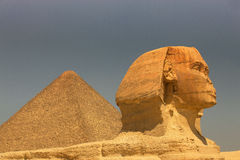 Sphinx, Egypt. The famous great sphinx at the Giza plateau, near Cairo, Egypt, Cheops Royalty Free Stock Photos