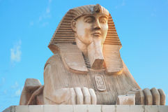 Sphinx, Egypt. Androsphinx sculpture at Soma Bay, front view royalty free stock photography