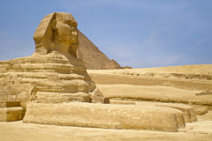 The Sphinx Egypt Cairo. The Sphinx and Pyramid, Egypt Cairo Stock Images