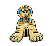 The Sphinx Of Egypt royalty free illustration