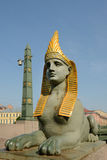 Sphinx of Egyptian bridge over the Fontanka river Royalty Free Stock Image