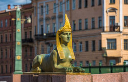 Sphinx of Egyptian bridge over the Fontanka river, St Petersburg Royalty Free Stock Image