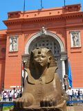 Sphinx at the Egyptian Museum, in Tahrir Sq, Cairo Stock Image