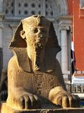 Sphinx at the Egyptian Museum, in Tahrir Sq, Cairo Royalty Free Stock Photography
