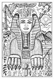 Sphinx, Egyptian mythology. Engraved fantasy illustration. Fantasy magic creatures collection. Hand drawn vector illustration. Engraved line art drawing Royalty Free Stock Photos