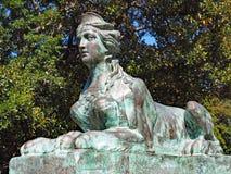 Sphinx en bronze images libres de droits