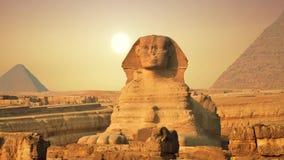 Sphinx et pyramides antiques, symbole de l'Egypte clips vidéos