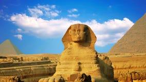 Sphinx et pyramides antiques, symbole de l'Egypte banque de vidéos