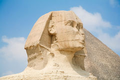 Sphinx face in Egypt Royalty Free Stock Photo