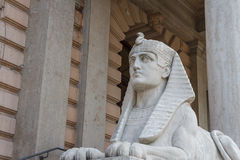 Sphinx figure in the center of Innsbruck Royalty Free Stock Images