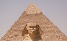 Sphinx front - egypt Royalty Free Stock Image