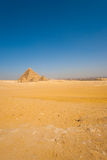 Sphinx Front Pyramids Vast Desert Cairo Royalty Free Stock Photos