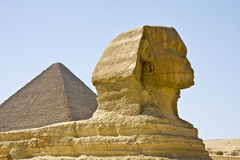Sphinx of Giza. Details of Egyptian art, Great Sphinx of Giza Stock Image
