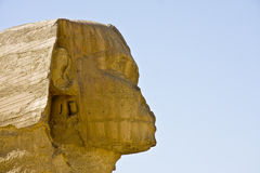 Sphinx of Giza. Details of Egyptian art, Great Sphinx of Giza Stock Photo