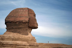 The Sphinx at Giza, Egypt. The Ancient Sphinx at the Giza Plateux in Cairo, Egypt Stock Photos