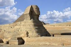 Sphinx. Giza, Egypt. Sphinx (Giza, Egypt) and blue sky royalty free stock photos