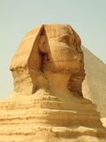 Sphinx and Giza Pyramids in Egypt Stock Image