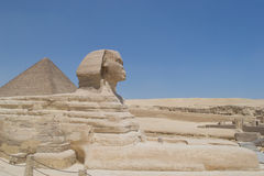 Sphinx of Giza. Sphinx represents life after death Stock Photos
