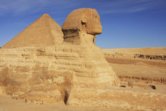 The Sphinx and Great Pyramid of Khufu, Cairo Royalty Free Stock Photography