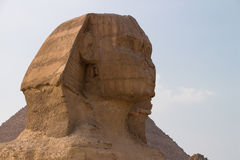 Sphinx at Great Pyramids of Giza, Cairo, Egypt Stock Photo