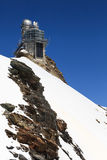 Sphinx high altitude observatory in Jungfraujoch pass in Switzer Royalty Free Stock Photos