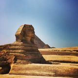 Sphinx i Egypten Arkivbild