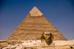 Sphinx and Kefren Royalty Free Stock Photos