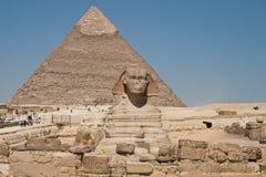 Sphinx, le piramidi Fotografia Stock